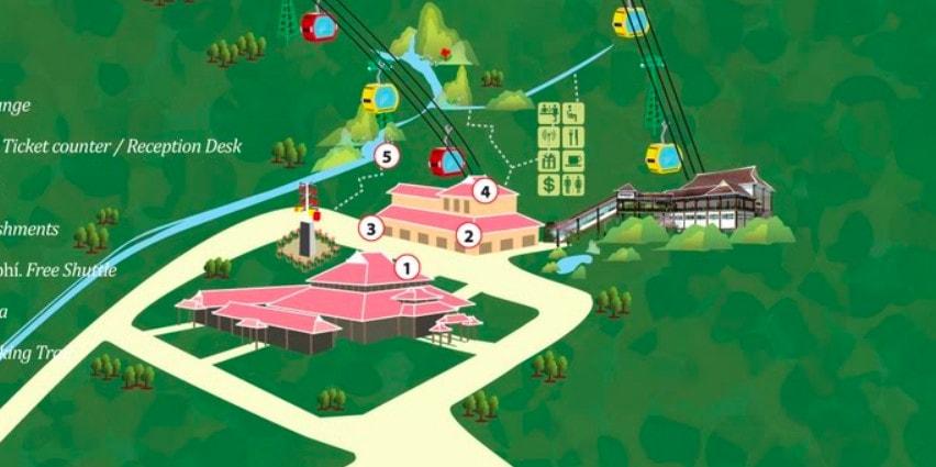 Bản đồ ở Bà Nà Hill
